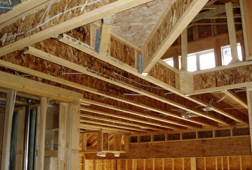 Engineered floor joists for commercial and residential for Floor joist size residential